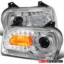 05-10 Chrysler 300 Chrome Clear Projector Headlights+LED DRL Signal Lights