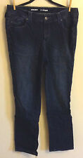 Women's Lane Bryant Right Fit Yellow Square Straight Leg Dark Wash Jeans Size 18