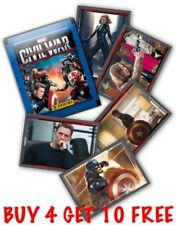 PANINI CAPTAIN AMERICA CIVIL WAR SINGLE STICKERS (2016) BUY 4 GET 10 FREE