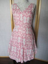 4b09cab26b Beautiful GAP 100% Linen Fit And Flare Dress Size 04 Pink and White