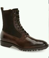 $500 To Boot New York Edwards Genuine Shearling Boot US 8 Mens Made in Italy!