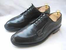 VINTAGE French Shriner V- CLEAT Apron Toe Oxford Shoes BLACK LEATHER size 8.5 C