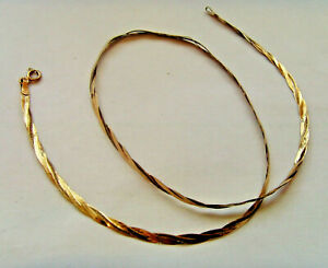 9ct Gold Triple Stand Herringbone Chain 16 Inch or 41cm Length Hallmarked