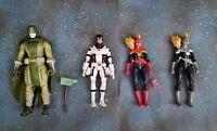 Marvel Legends Lot of 4: Kree Characters, Ronan BAF, Captain Marvel, Protector