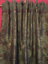 "Pier 1 Imports Brightman Window Panel Curtain Brown 54"" X 84"" Lined Back Tab Set"