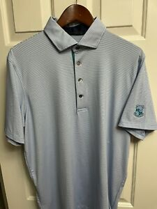 Men's Greyson Golf Saranac Polo, Blue, Barton Hills CC, NWOT, 🔥