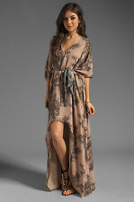 "*RARE* WINTER KATE by NICOLE RICHIE SILK ""TRINITY"" KAFTAN HI LOW MAXI DRESS $495"