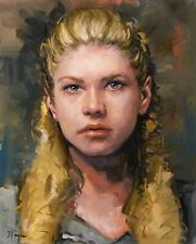 Original oil painting portrait of a young woman by UK artist j payne
