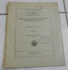 antique 1916 Usgs Geology Arizona Paleozoic Sections