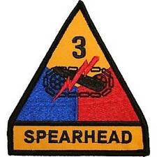 3rd Armored Division -Spearhead- Embroidered Patch- Approx 3 3/4""