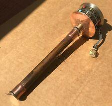 "Tibetan PRAYER WHEEL for Dharma Practice Copper Metal Brass Wood Handle 10"" Long"