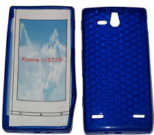 Pattern Soft Gel Case Protector Cover For Sony Ericsson Xperia U ST25i Blue UK