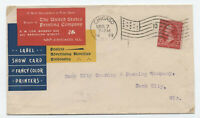 1899 United States Printing Company color ad cover Chicago flag cancel [y4039]