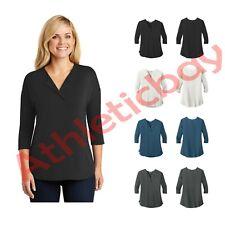 Port Authority Ladies Concept 3/4-Sleeve Soft Split Neck Top