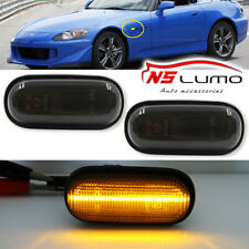 Front LED Side Marker Lights For Honda S2000 Accord Civic Prelude CRX Fit Smoked