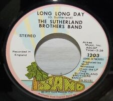 1972 SUTHERLAND BROTHERS BAND THE PIE & LONG LONG DAY ISLAND ROCK 45 #1203 VG++