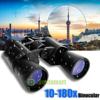 10-180 X 100 Binoculars High Magnification HD Long Range Zoom Times Telescope