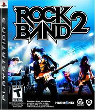 Rock Band 2 PS3 Playstation 3 Complete Case Manual Disc Music EA Video Game Only