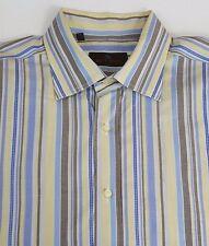 Etro Men's Cotton Long Sleeved Dress Shirt (42) 16.5-36 Striped