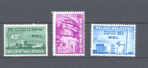 BELGIUM 1961 euratom atomic reactor MNH** 1195/97