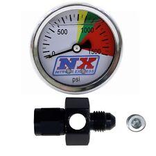 Nitrous Express N2O Pressure Gauge w/flow-thru -4AN Fitting Brand New