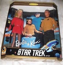 NOS dolls STAR TREK 1996 BARBIE KEN box GIFT SET 30th Anniv PROPS Orig $75