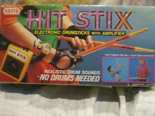 Nasta Hit Stix Electronic Drumsticks Amplifier Tested Works 1980's Vintage Toys