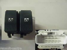 Renault Laguna 2001-2005 Drivers Side Electric Window Switch Front Rear White
