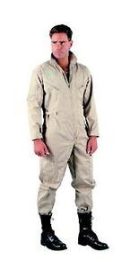 Rothco 7508 Mens Khaki Flight Suit,5 Zippered Pockets - Adjustable Waist & Cuffs