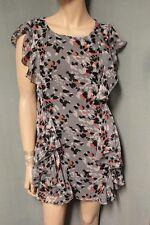 Moonbasa Pretty Gray Sleeveless Ruffle Dress size Small S