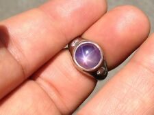 18Kt Star Sapphire NATURAL Diamond Jewelry Ring SOLID White Gold 6.38CT