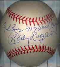 Johnny Logan 1957 Milwaukee Braves World Champs Autographed Signed ONL Baseball