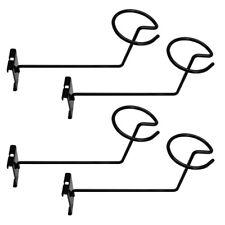 Set Of 4 Pc Gloss Black Hat Rack Wire Grid Wall Cap Slat Panels Gridwall Display