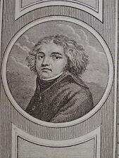 Portrait Miniature XVIII GENERAL KLEBER CAMPAGNE EGYPTE NAPOLEON REVOLUTION 1799