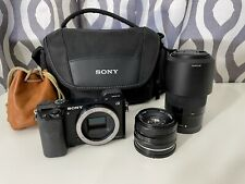Sony Alpha A6000 24.3MP Digital Camera - Black (Kit with 16-50mm & 55-210mm Zoom