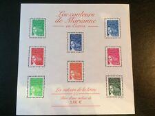BLOC FRANCE N° 45 LES COULEURS DE MARIANNE EN EUROS 2002 NEUF