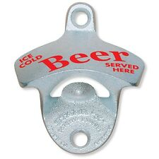 Ice Cold Beer Served Here Stationary Wall Mount Bottle Opener Starr X GIFT NEW