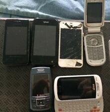 Lot of 6 Assorted Cell Phones - Flip,Slide,Smartphone & iPhone (Samsung, Apple)