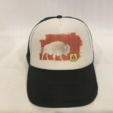 OTTO Collection Trucker Cap Hat Bison Motif Buffalo Mesh Tab Back OSFM