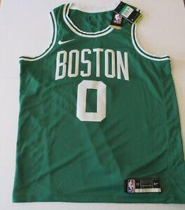Boston Celtics Jayson Tatum Nike Swingman Authentic Green Jersey - Men's XL