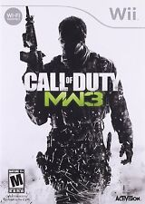 Call of Duty Modern Warfare 3 WII! BATTLEFIELD, BATTLE, WAR, SNIPER, ARMY COMBAT