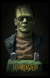 Aurora Monster Tribute FRANKENSTEIN 1/4 scale Unpainted Resin Model Kit Bust