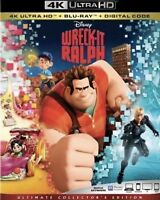 DISNEY WRECK-IT RALPH(4K ULTRA HD+BLU-RAY+DIGITAL)W/SLIPCOVER NEW