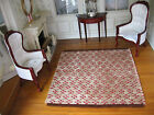 dollhouse doll house miniature FANCY WOVEN RUG CARPET BROWNS AND RUST