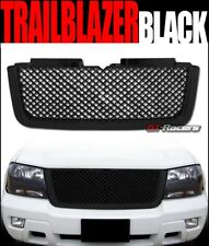 FOR 2006-2009 CHEVY TRAILBLAZER LT BLK LUXURY MESH FRONT BUMPER GRILL GRILLE ABS