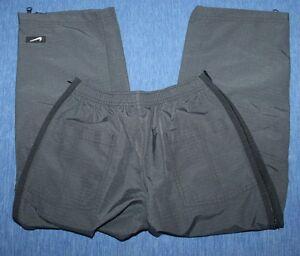 Boys  NIKE Nylon Rip Stop  Athletic   Pants  full leg  zip  Small    8