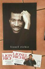 Lionel Richie 'Time' 1998 Concert Souvenir Booklet + 3 tickets