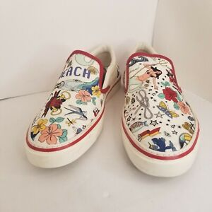 Mens Gucci Slip on Beach Sneakers GG Shoes Size 7