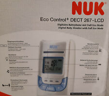NUK Babyphone Eco Control DECT 267-LCD, gebraucht in OVP