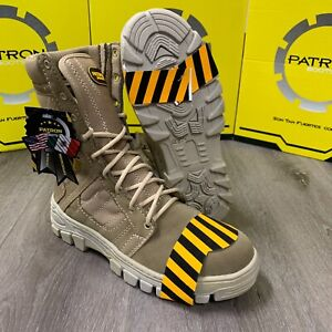 MEN'S STEEL TOE WORK BOOTS COMBAT TACTICAL SLIP RESISTANT MILITARY STYLE HEAVY